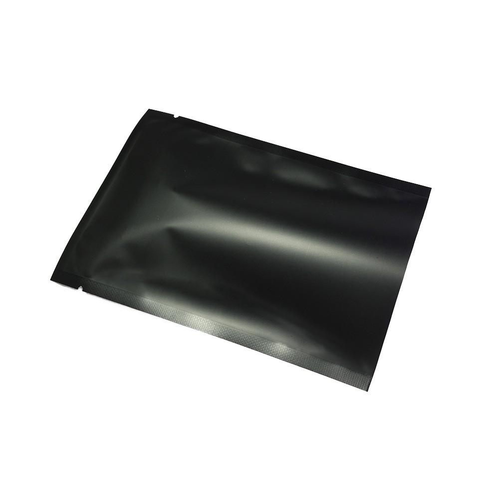 crystal clear matte black mylar foil flat open top bags. Black Bedroom Furniture Sets. Home Design Ideas