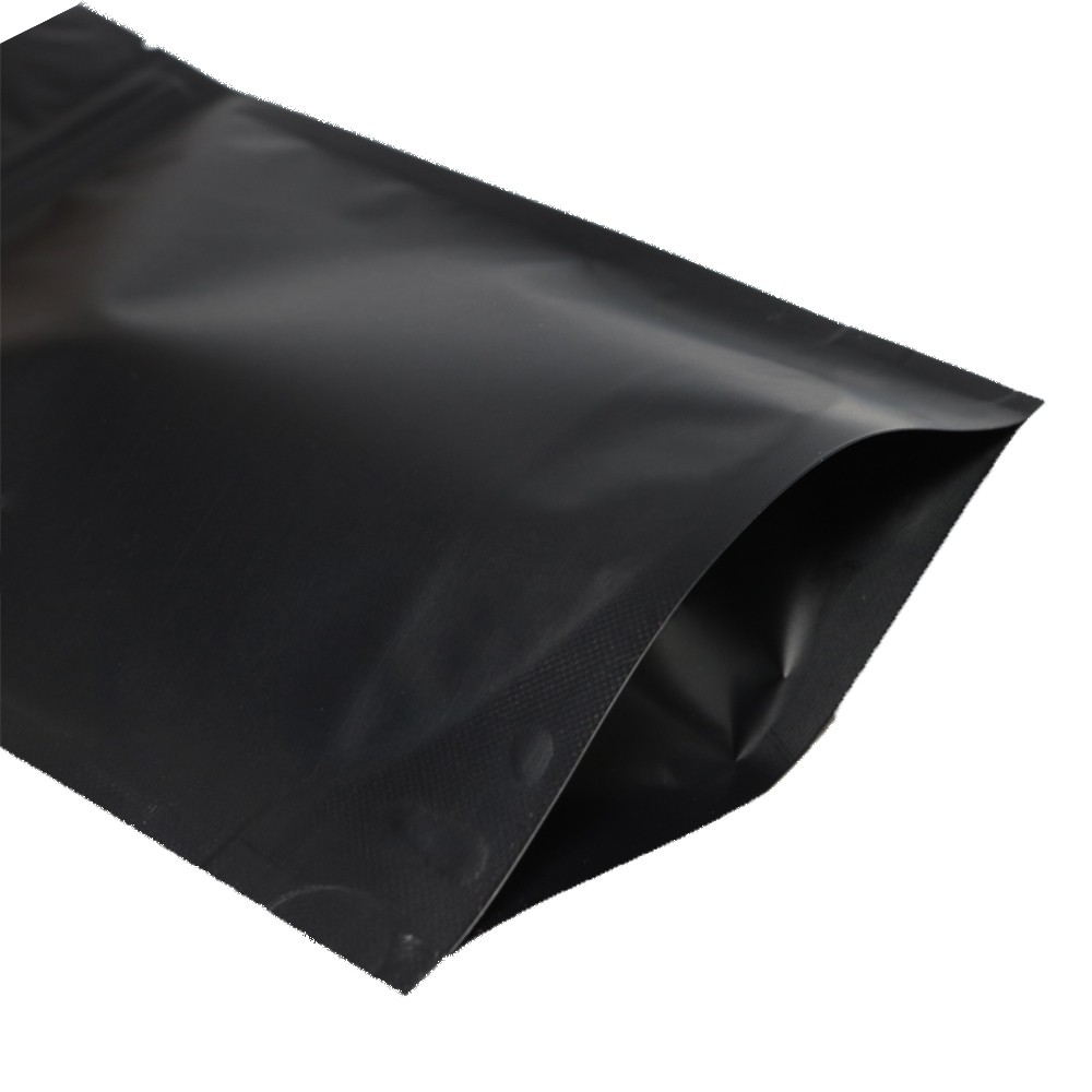 black metallic foil stand up ziplock bags 14 cm x 20 cm 5 5 inches x 7 9 inches 300 bags lot. Black Bedroom Furniture Sets. Home Design Ideas
