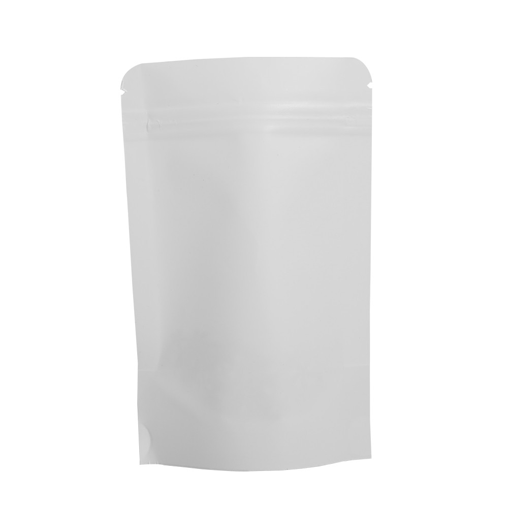 white kraft standup ziplock bags 14 cm x 20 cm 5 5 inches x 7 9 inches 500 bags lot oem. Black Bedroom Furniture Sets. Home Design Ideas