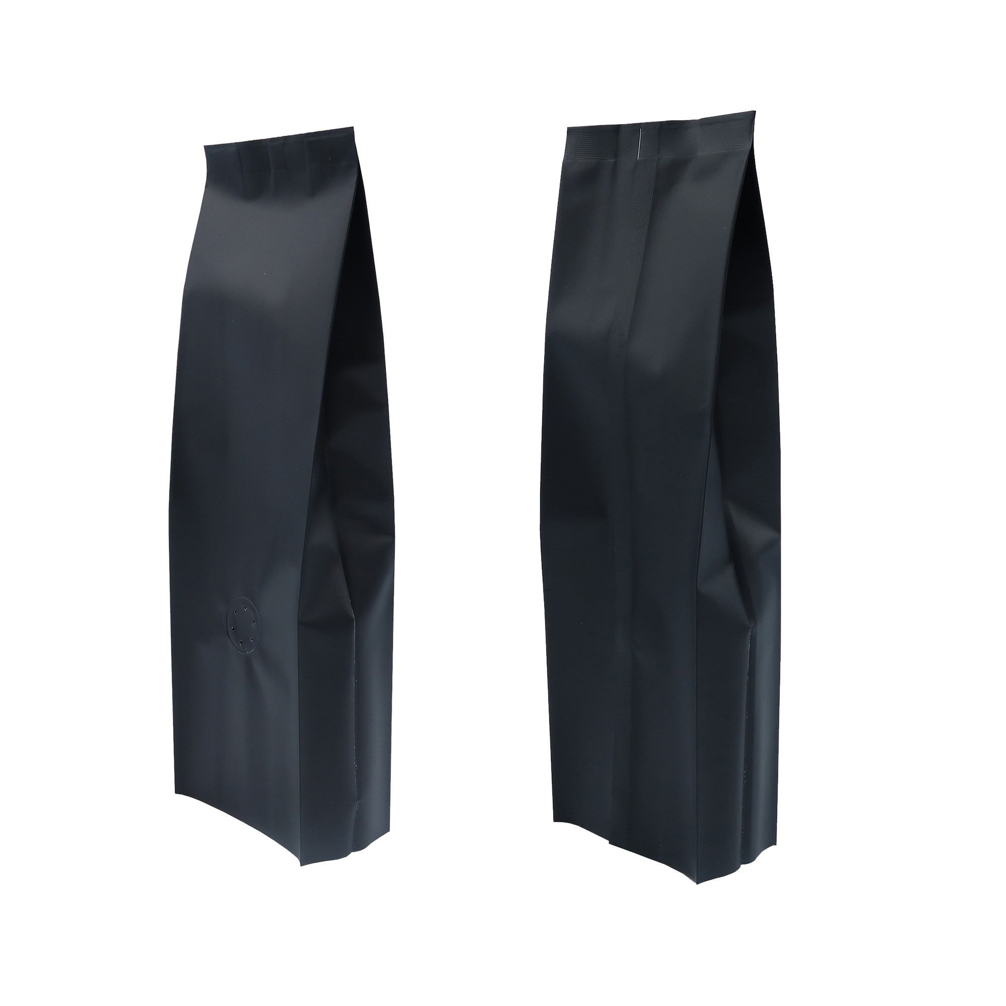 8oz Matte Black Side Gusseted Coffee Storage Aluminum Bags with Degassing Valve (100 Bags/Lot)
