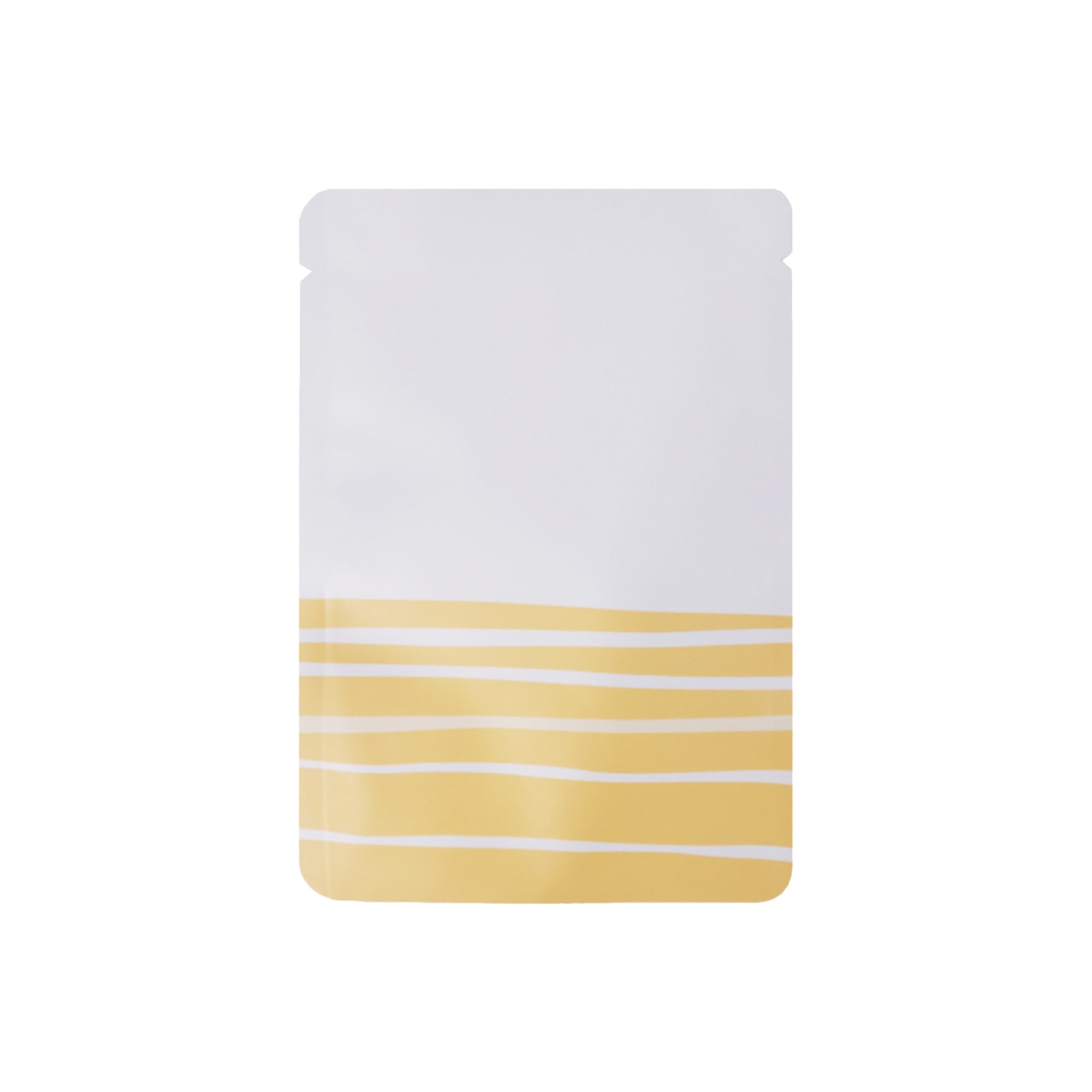 White Metallized Orange Pathway Design Flat Open Top Bags 10 cm x 15 cm [4 inches x 6 inches] (500 Bags/Lot)