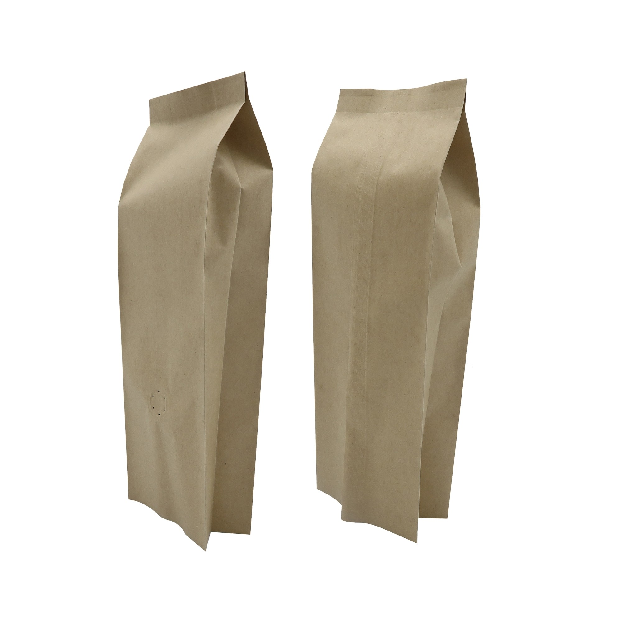 8oz Brown Kraft Side Gusseted Coffee Storage Aluminum Bags with Degassing Valve (100 Bags/Lot)