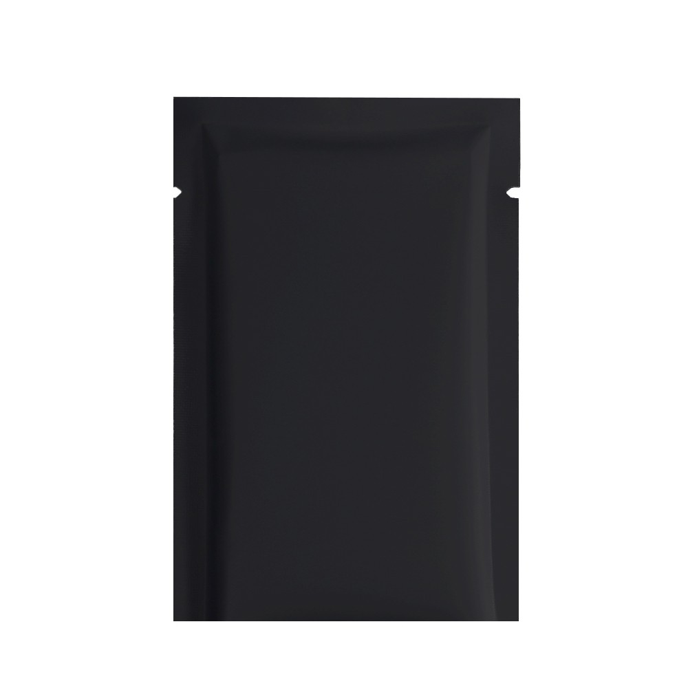 Matte Black Metallized Flat Open Top Bags 12 cm x 18 cm [4.75 inches x 7 inches] (500 Bags/Lot)