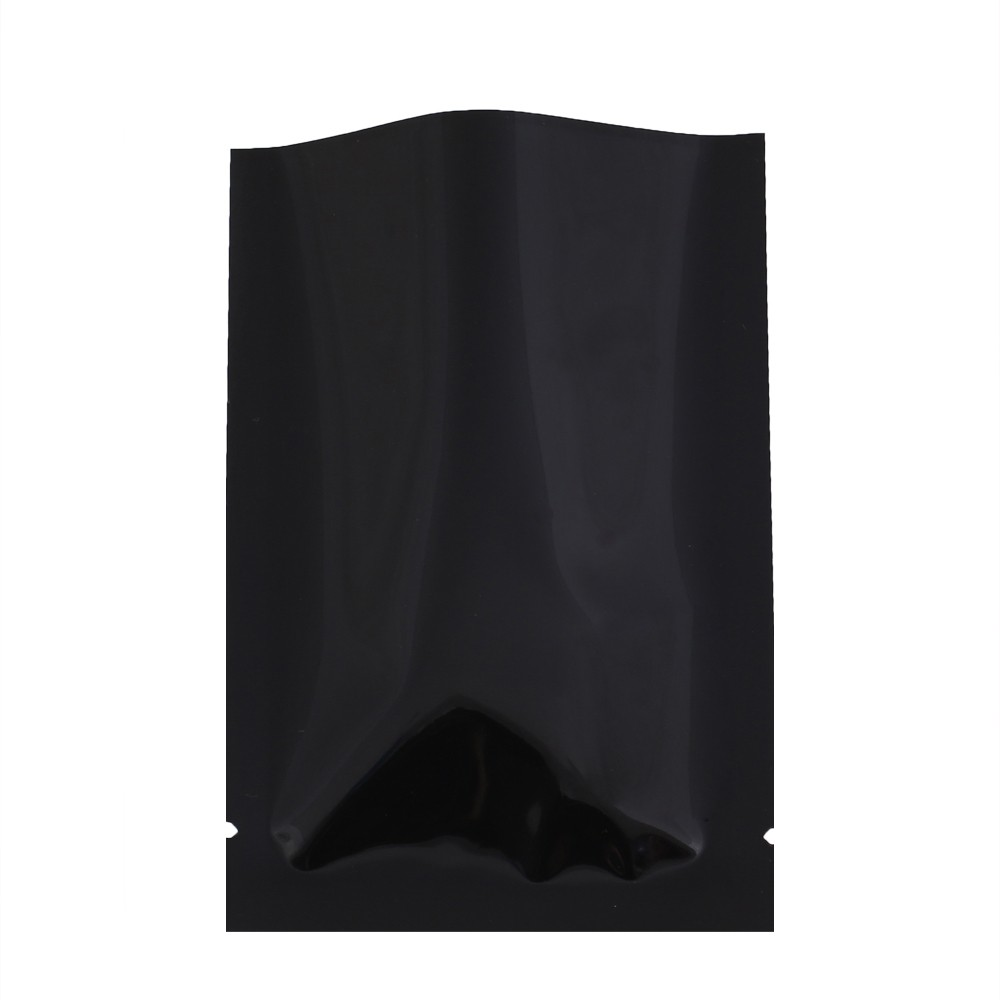 Black Metallized Flat Open Top Bags 7 cm x 10 cm [2.75 inches x 4 inches] (500 Bags/Lot)