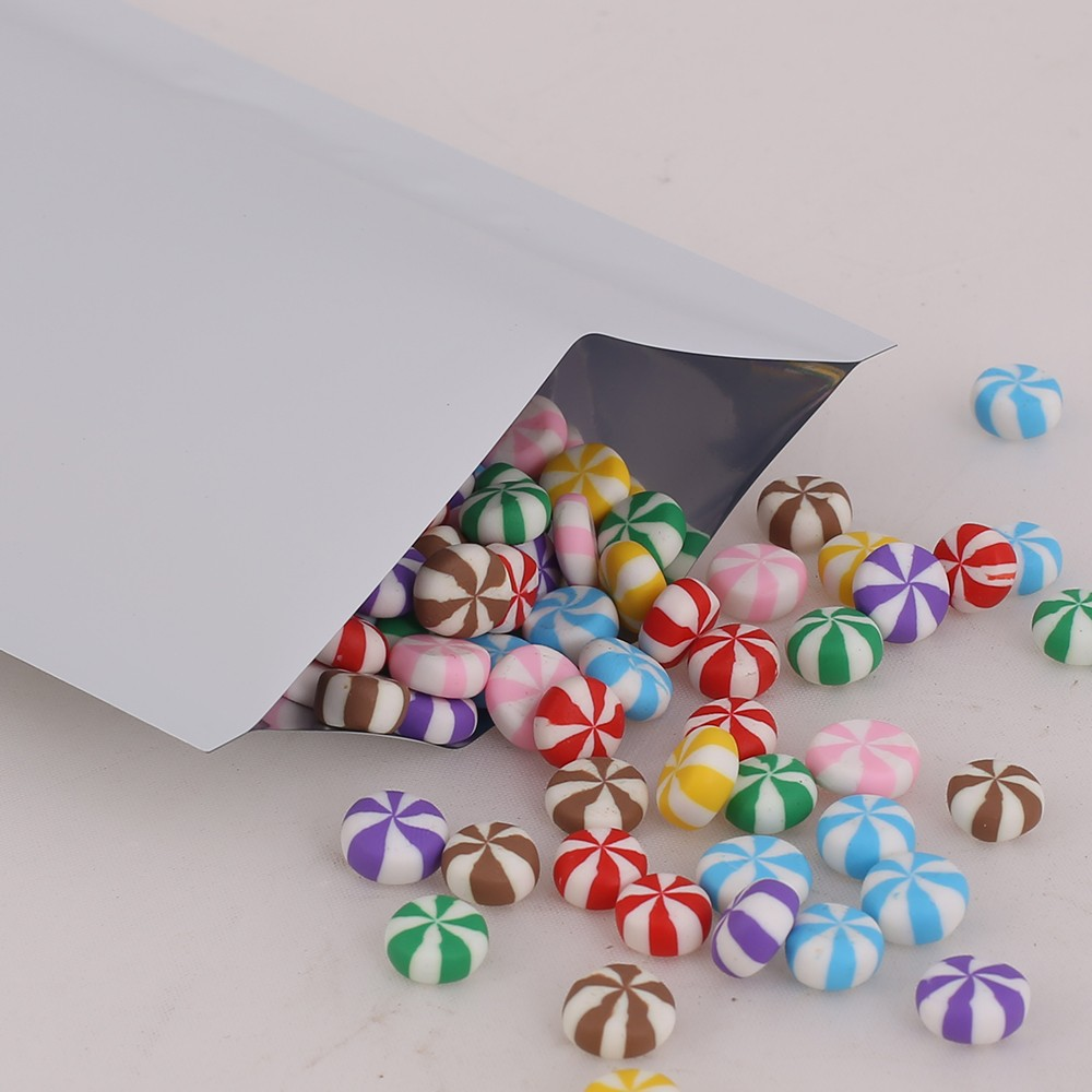 White Metallized Flat Open Top Bags 6 cm x 9 cm [2.25 inches x 3.5 inches] (500 Bags/Lot)