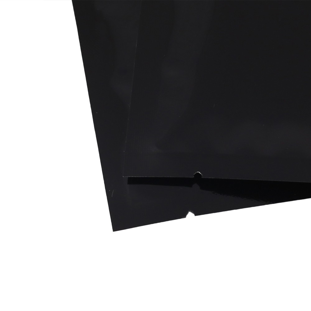 Black Metallized Flat Open Top Bags 8 cm x 12 cm [3 inches x 4.75 inches] (500 Bags/Lot)