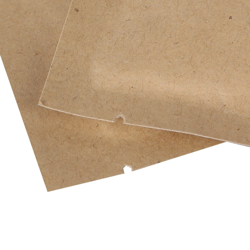 Kraft with Metallized Foil Inside Flat Open Top Bags 10 cm x 15 cm [4 inches x 6 inches] (500 Bags/Lot)
