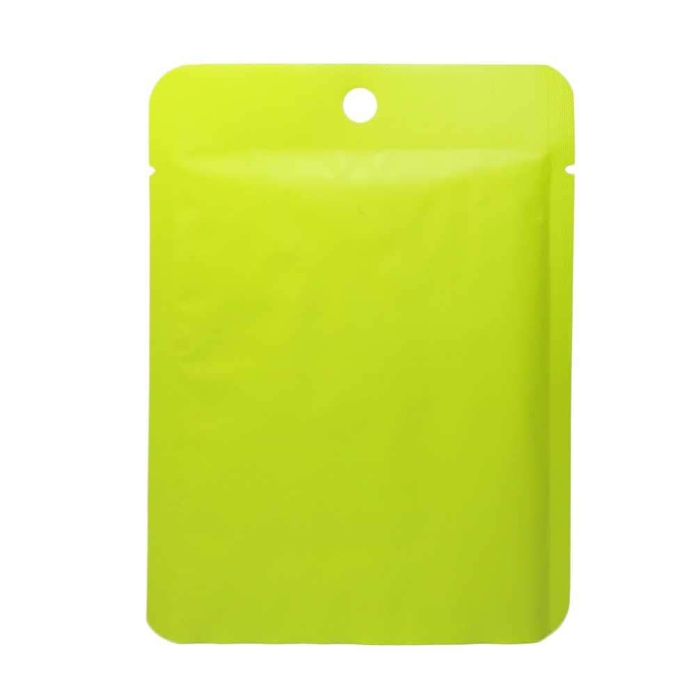 Green Metallized Flat Open Bottom Bags with Round Hang-Hole 10 cm x 14 cm [4 inches x 5.5 inches] (500 Bags/Lot)