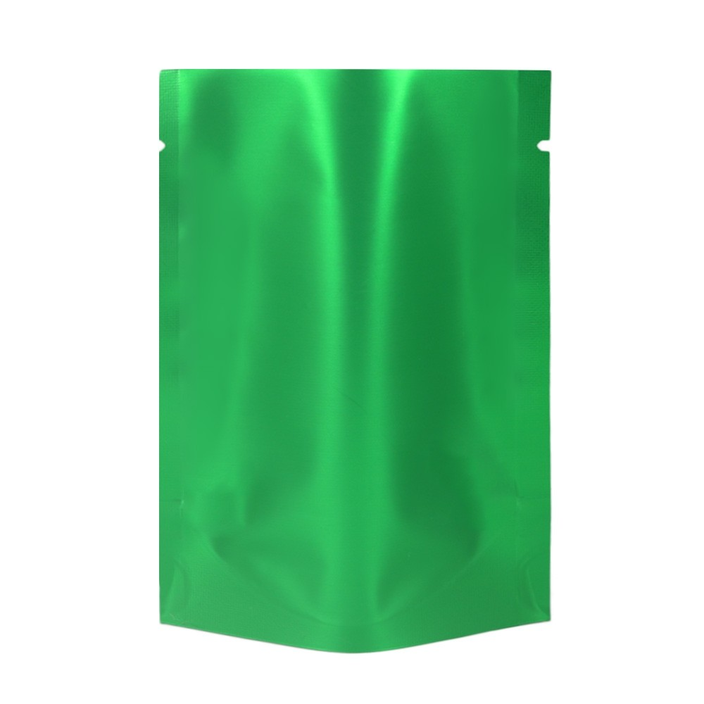 Green Metallized Stand-Up Open Top Non-Resealable Bags 10 cm x 16 cm [4 inches x 6 inches] (500 Bags/Lot)