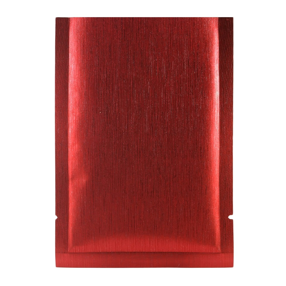 Red Texture Rice Paper Mylar Foil Flat Open Top Bags 12 cm x 18 cm [4.7 inches x 7.1 inches] (500 Bags/Lot)