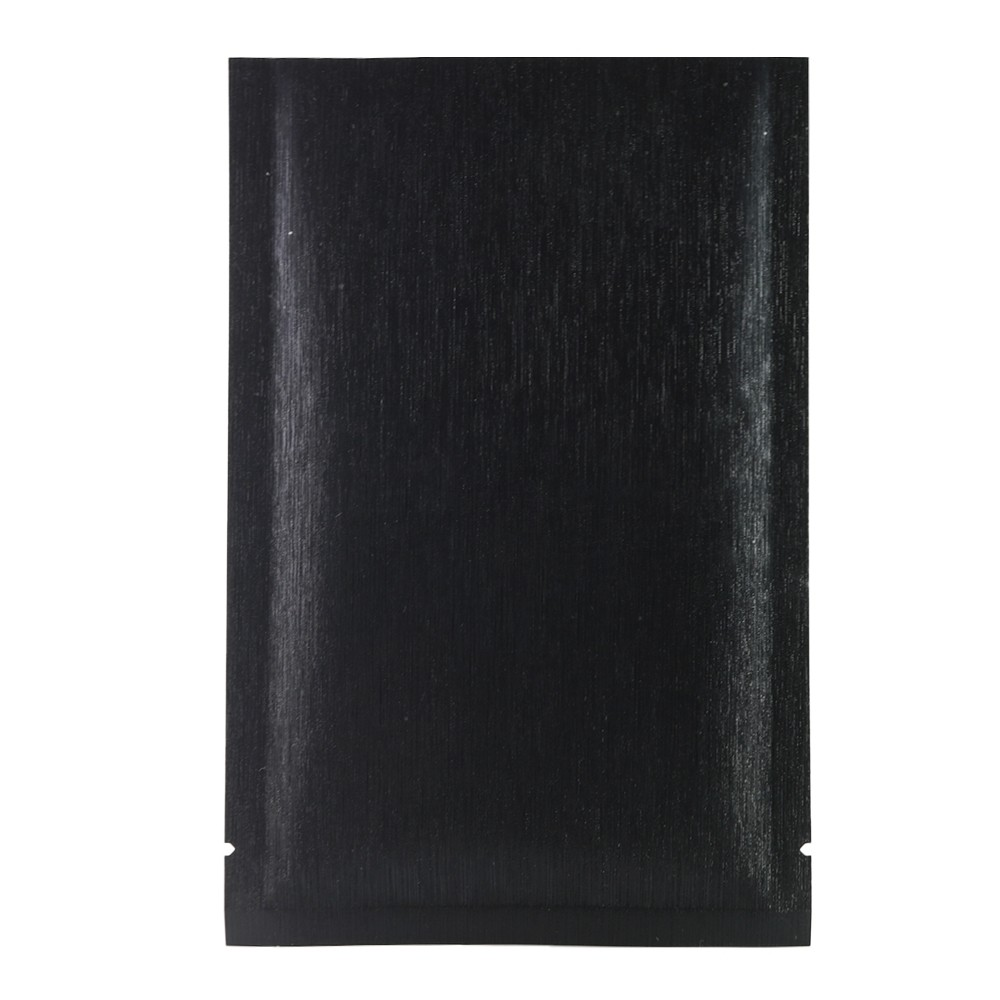 Black Texture Rice Paper Mylar Foil Flat Open Top Bags 8 cm x 12 cm [3.1 inches x 4.7 inches] (500 Bags/Lot)