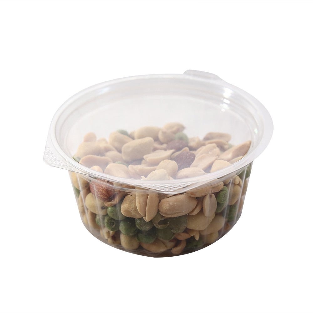 12oz Clear Plastic Bowl Container w/Flat Lid (250 Containers / Lot)