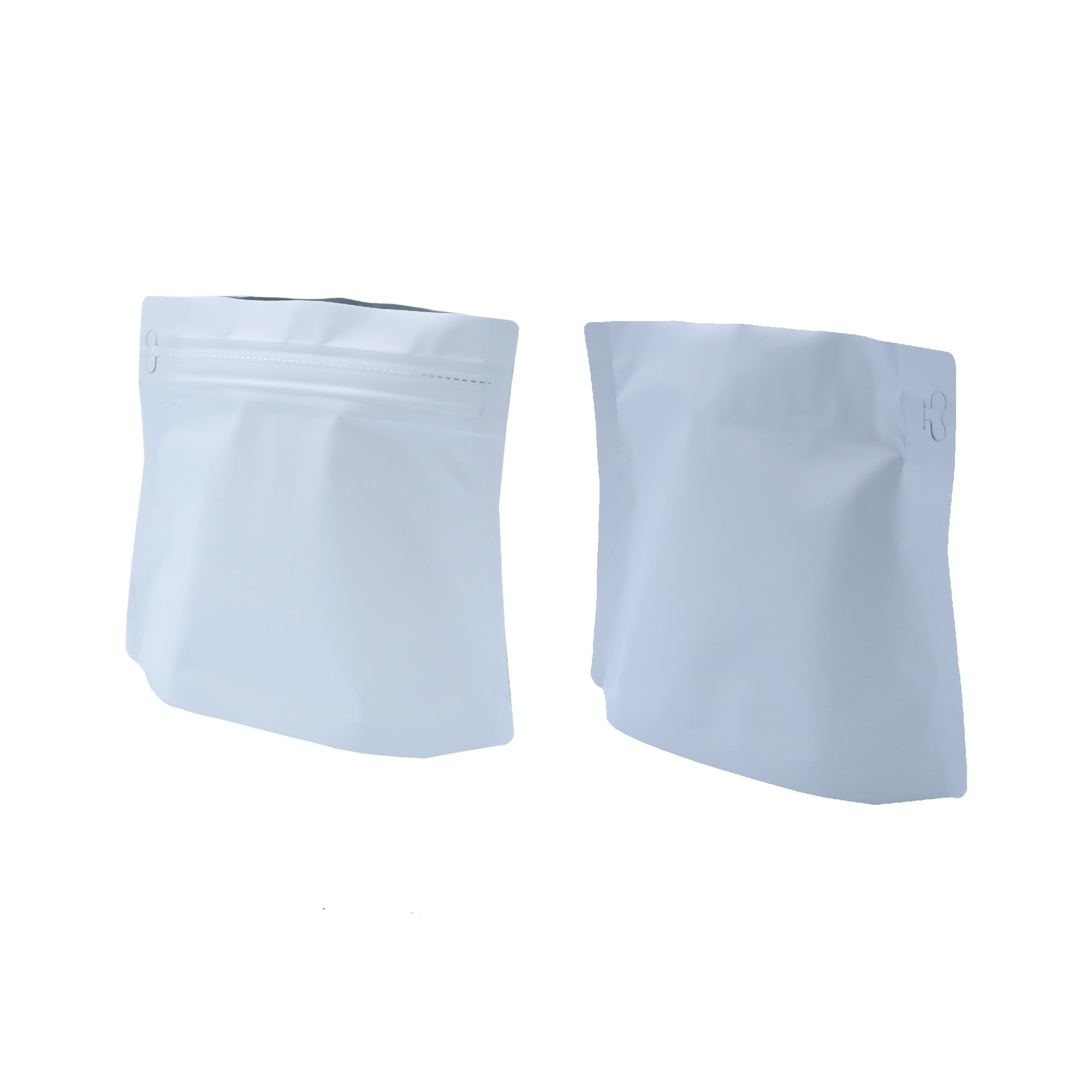 150g Matte White Bottom Gusseted Coffee Storage Aluminum Bags with Pull Tab (100 Bags/Lot)
