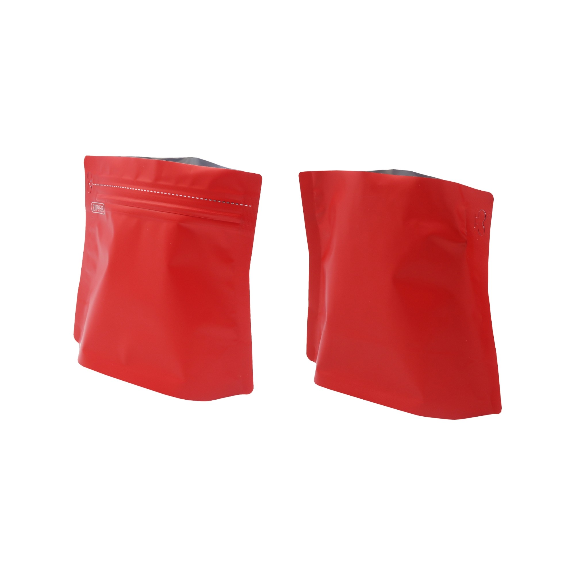 150g Matte Red Bottom Gusseted Coffee Storage Aluminum Bags with Pull Tab (100 Bags/Lot)