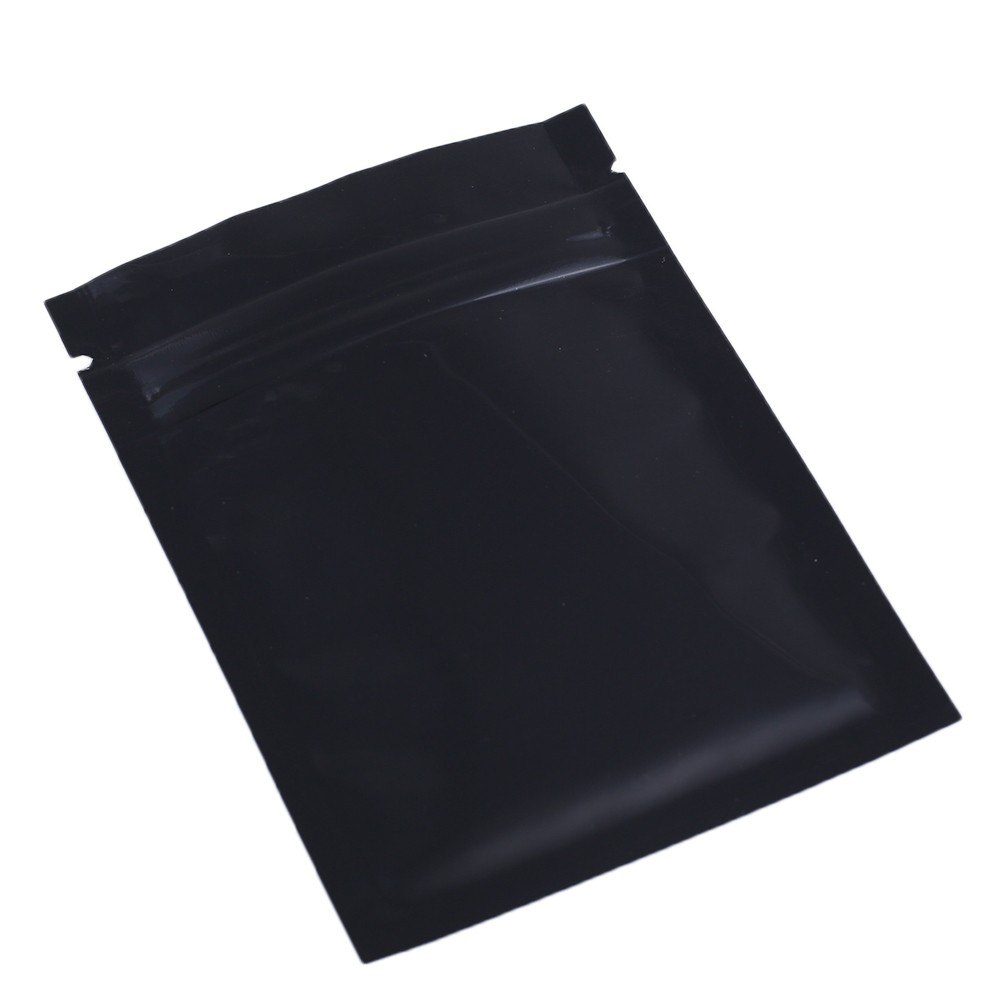 black shiny metallic mylar ziplock bags 7 5 cm x 10 cm 3 inches x 4 inches 100 bags pack. Black Bedroom Furniture Sets. Home Design Ideas