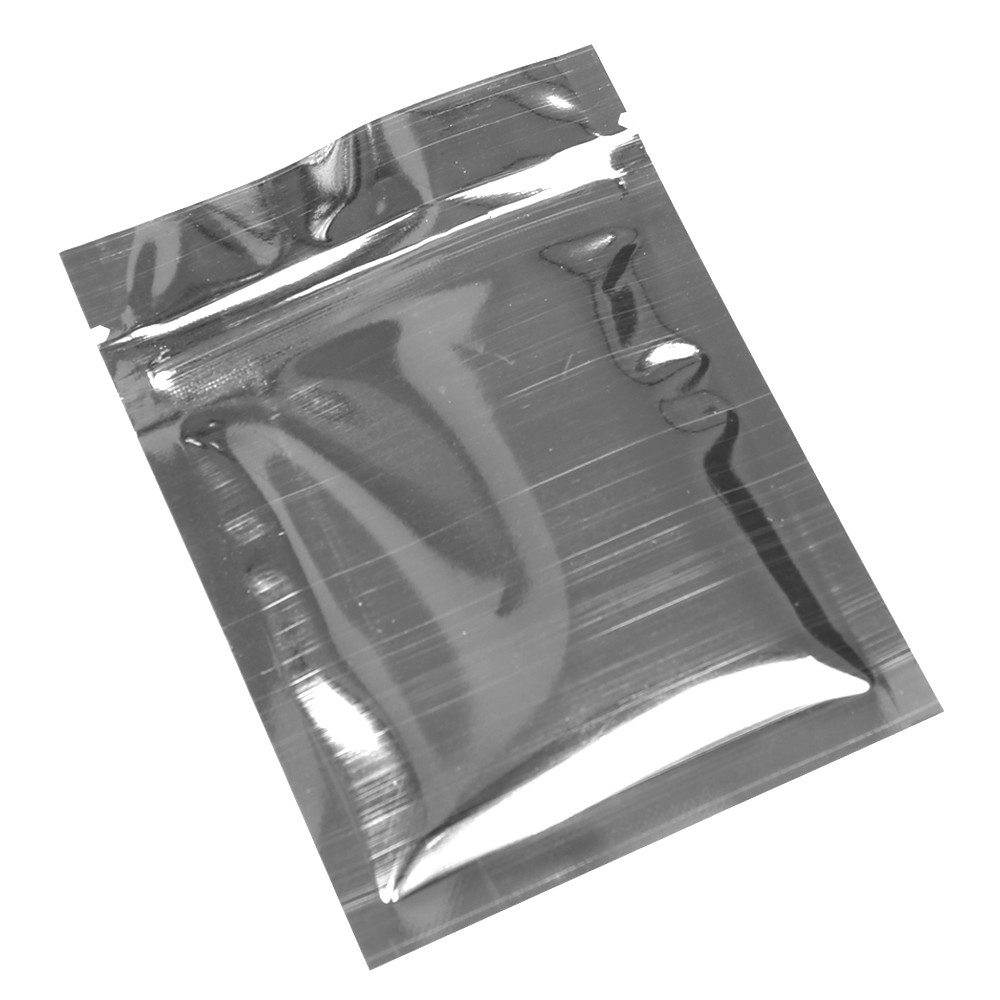 Silver Shiny Metallic Mylar Ziplock Bags 7.5 cm x 10 cm [3 inches x 4 inches] (500 Bags/Lot)