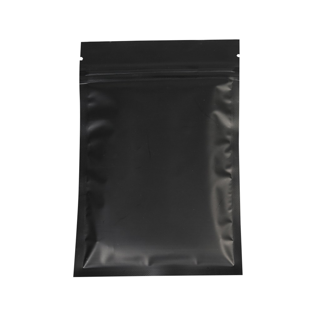 Double Sided Black Matte Metallic Mylar Flat Ziplock Bag 10 Cm X 15 4 Inches 6 500 Bags Lot