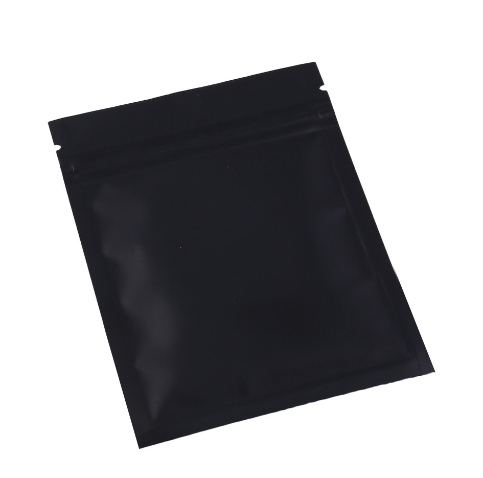Double Sided Black Matte Metallic Mylar Flat Ziplock Bag 7.5 cm x 10 cm [3 inches x 4 inches] (500 Bags/Lot)