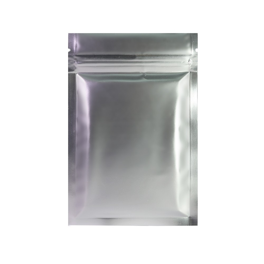 Double Sided Silver Matte Metallic Mylar Flat Ziplock Bag 8.5 cm x 13 cm [3.3 inches x 5.11 inches] (500 Bags/Lot)