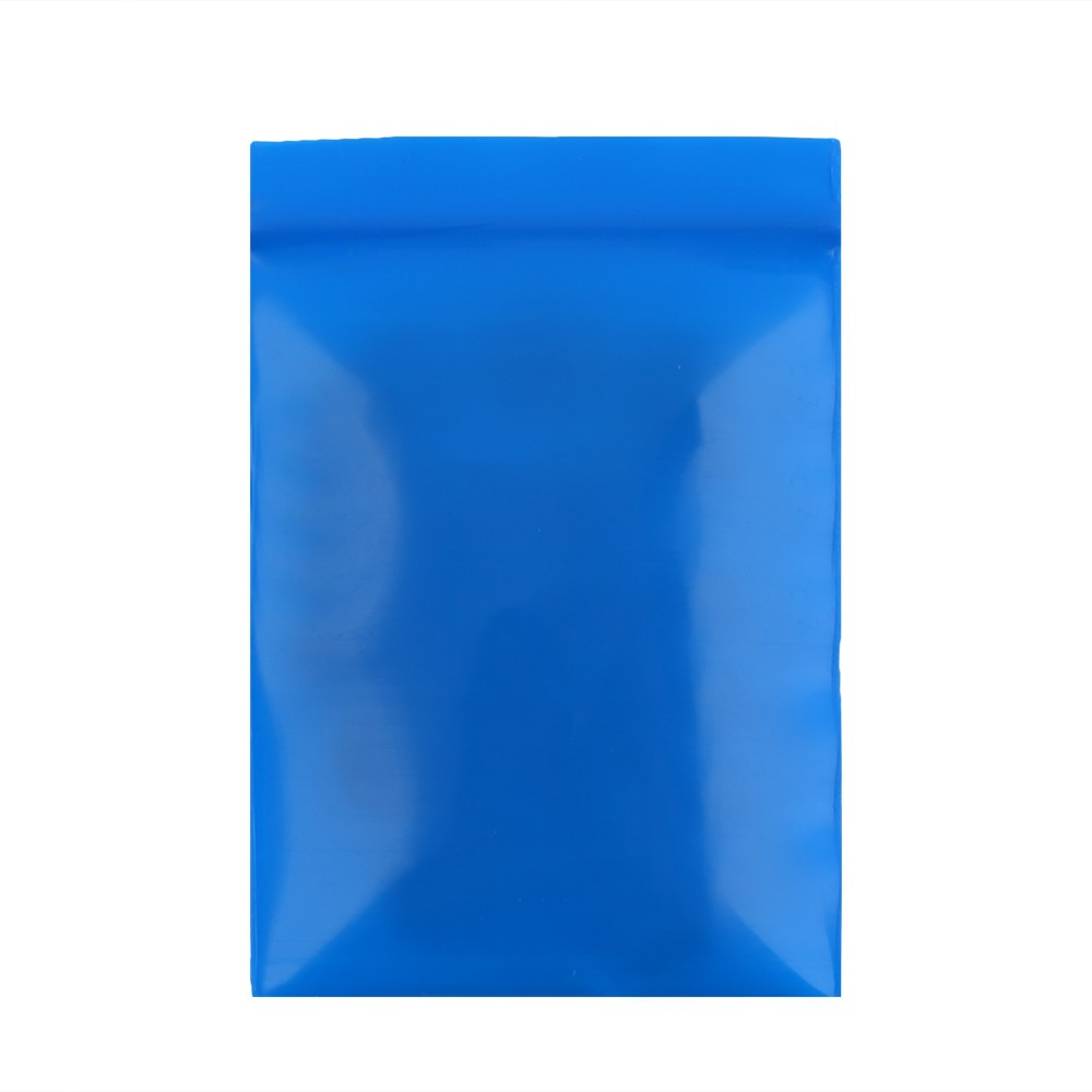 Soft Flat Blue Plastic Poly Ziplock Bags 5 cm x 7 cm [2 inches x 2.75 inches] (500 Bags/Lot)