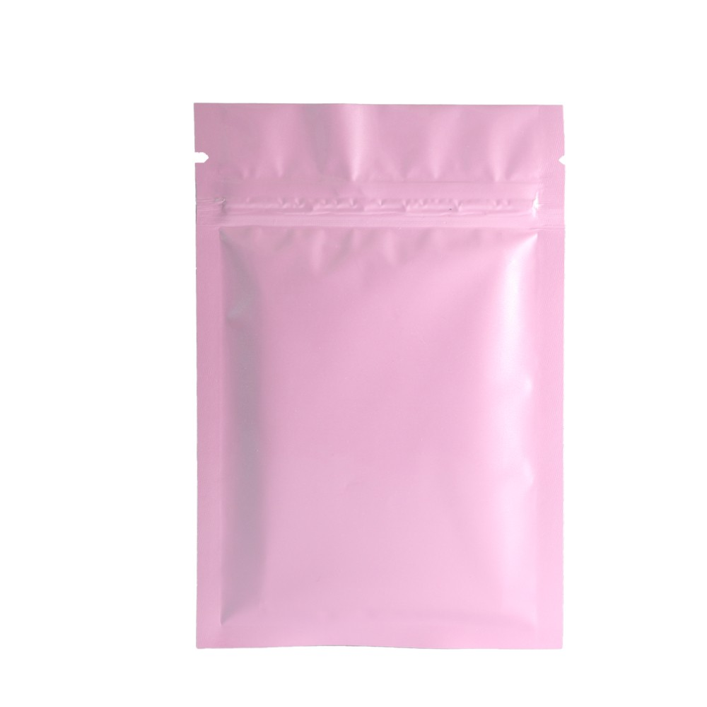 Double Sided Pink Glossy Metallic Mylar Flat Ziplock Bag 10 cm x 15 cm [4 inches x 6 inches] (500 Bags/Lot)