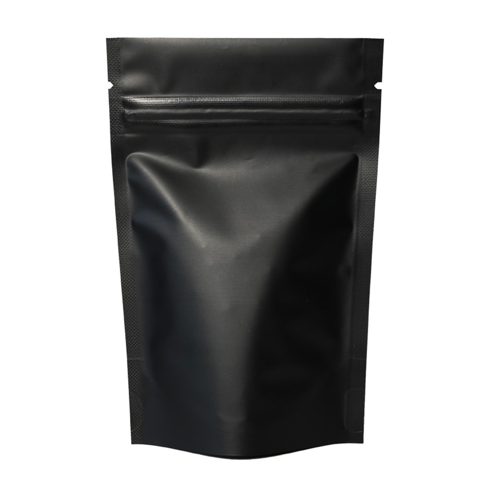 Black Metallic Foil Stand-Up Ziplock Bags 12 cm x 18 cm [4.7 inches x 7.1 inches] (500 Bags/Lot)
