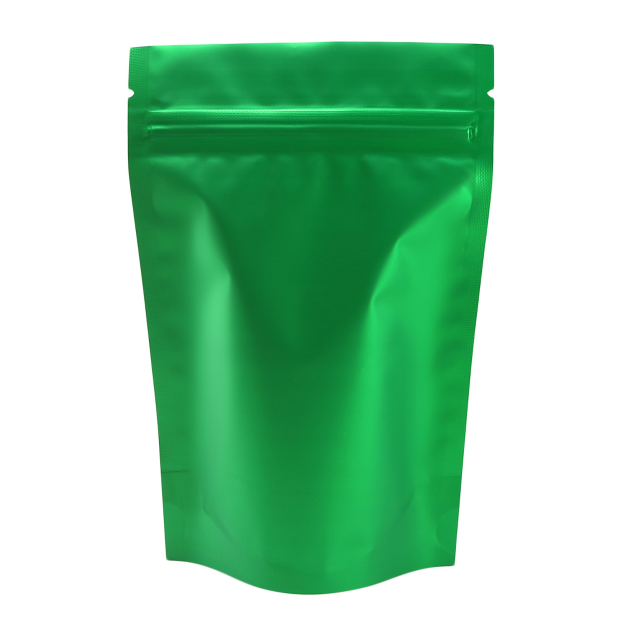 Green Metallic Foil Stand-Up Ziplock Bags 12 cm x 18 cm [4.7 inches x 7.1 inches] (500 Bags/Lot)