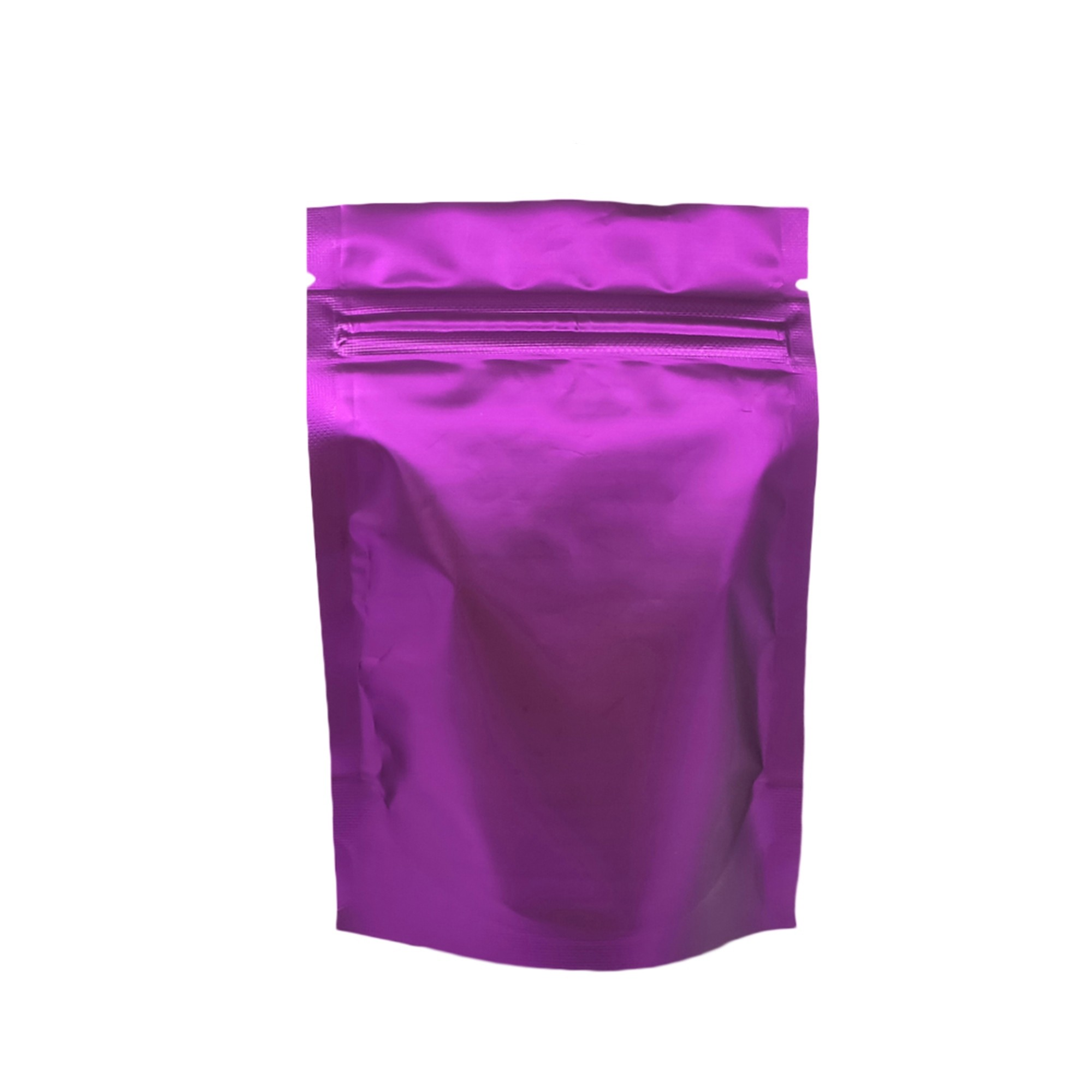 Matte Double-Sided Purple Metallic Foil Standup Ziplock Bags 8.5 cm x 13 cm [3.3 inches x 5.1 inches] (500 Bags/Lot)