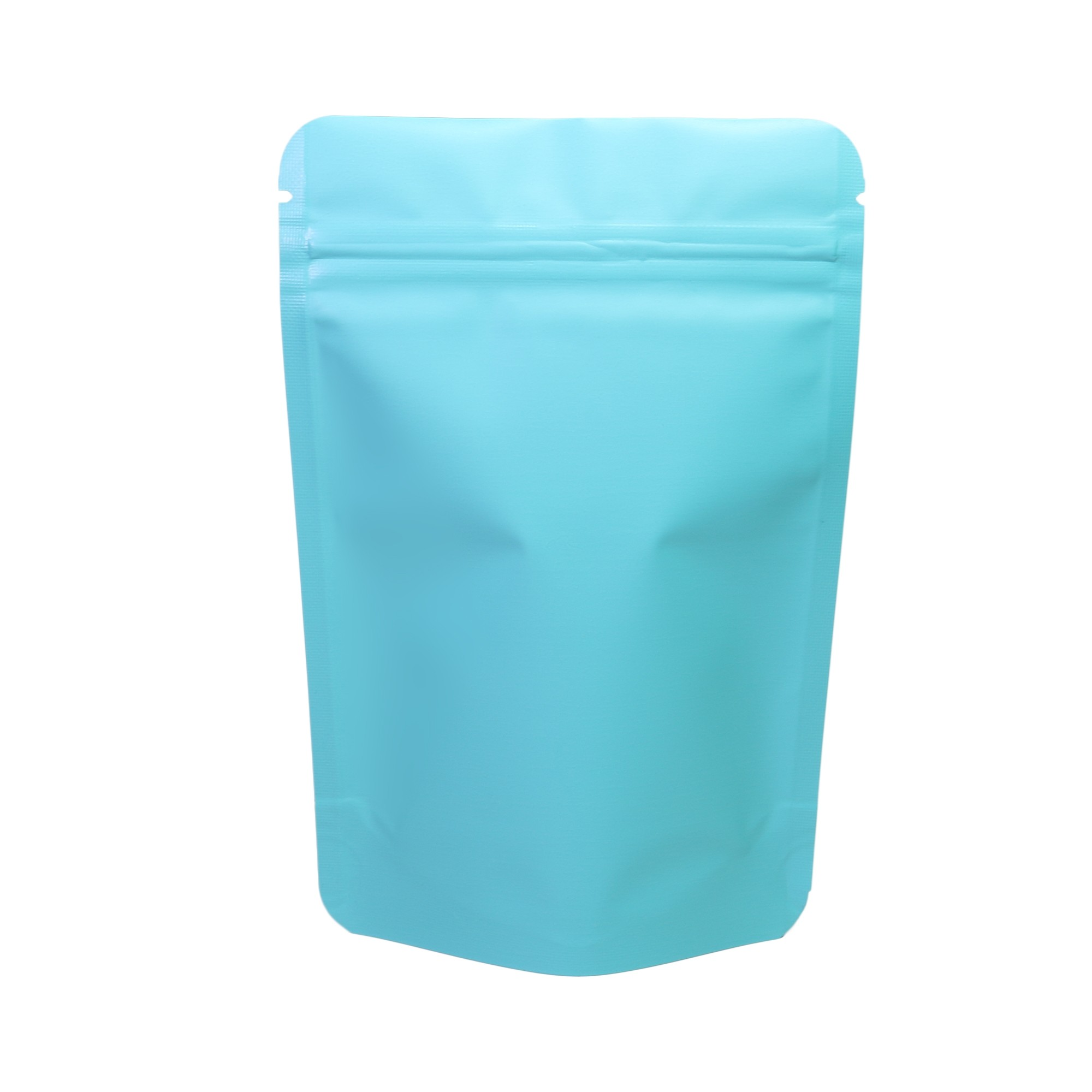 Heavy-Duty Double-Sided Matte Blue Stand Up Bags 10 cm x 15