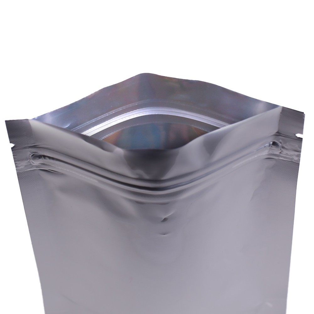Heavy Duty Silver Metallic Foil Standup Ziplock Bags 8 Cm X 12 3 1 Inches 4 7 500 Lot Oem Bargain