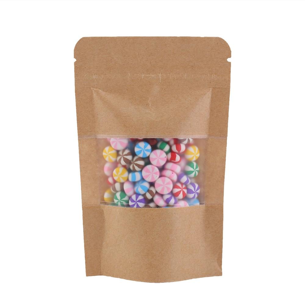 Brown Kraft Standup Ziplock Bags W Clear Front Window 9 Cm X 14 3 5 Inches 500 Lot Packaging Supplies Oem Bargain