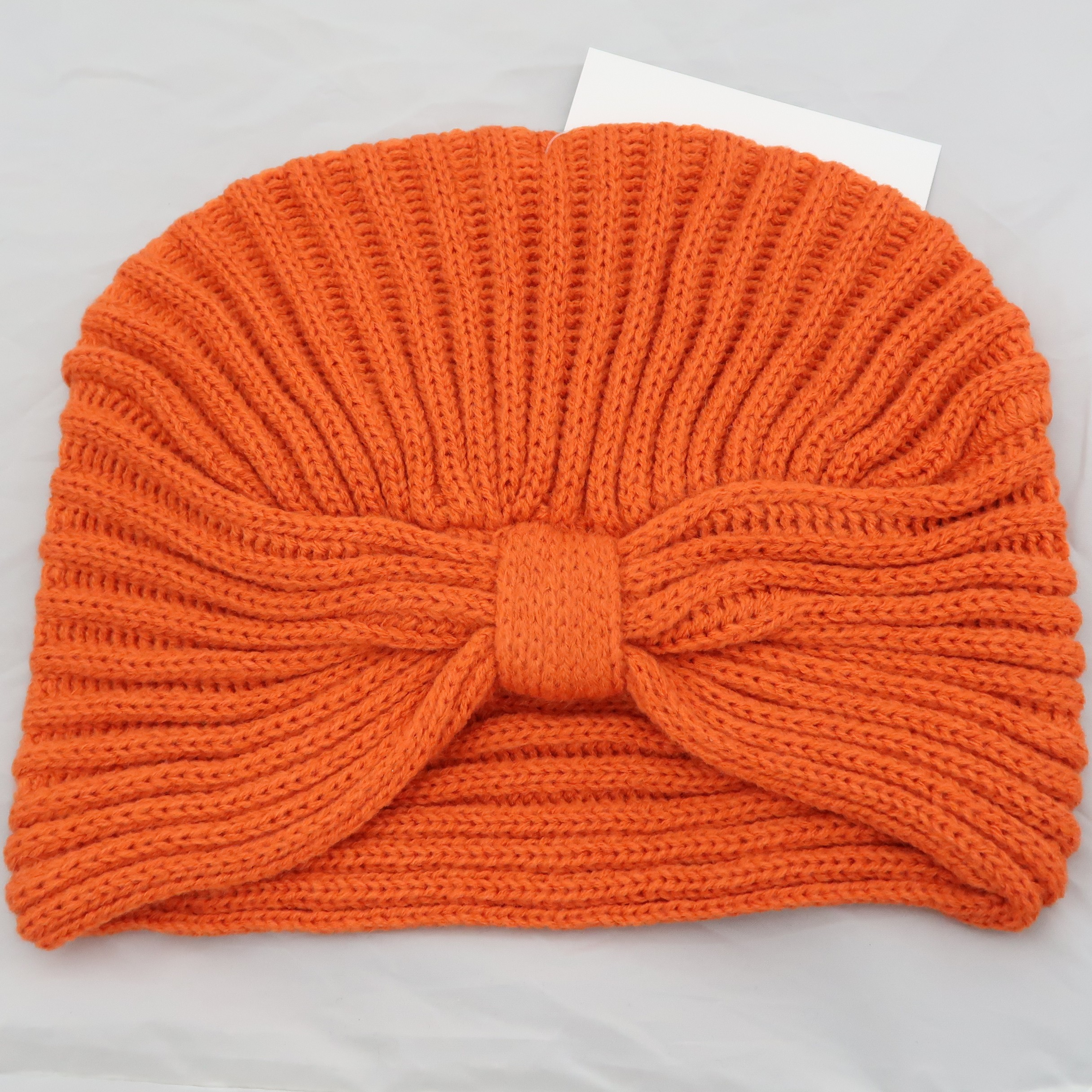 4fbfbabd438 KBB Orange Striated Design Knottled Beanie Hat (3 Hats Lot ...