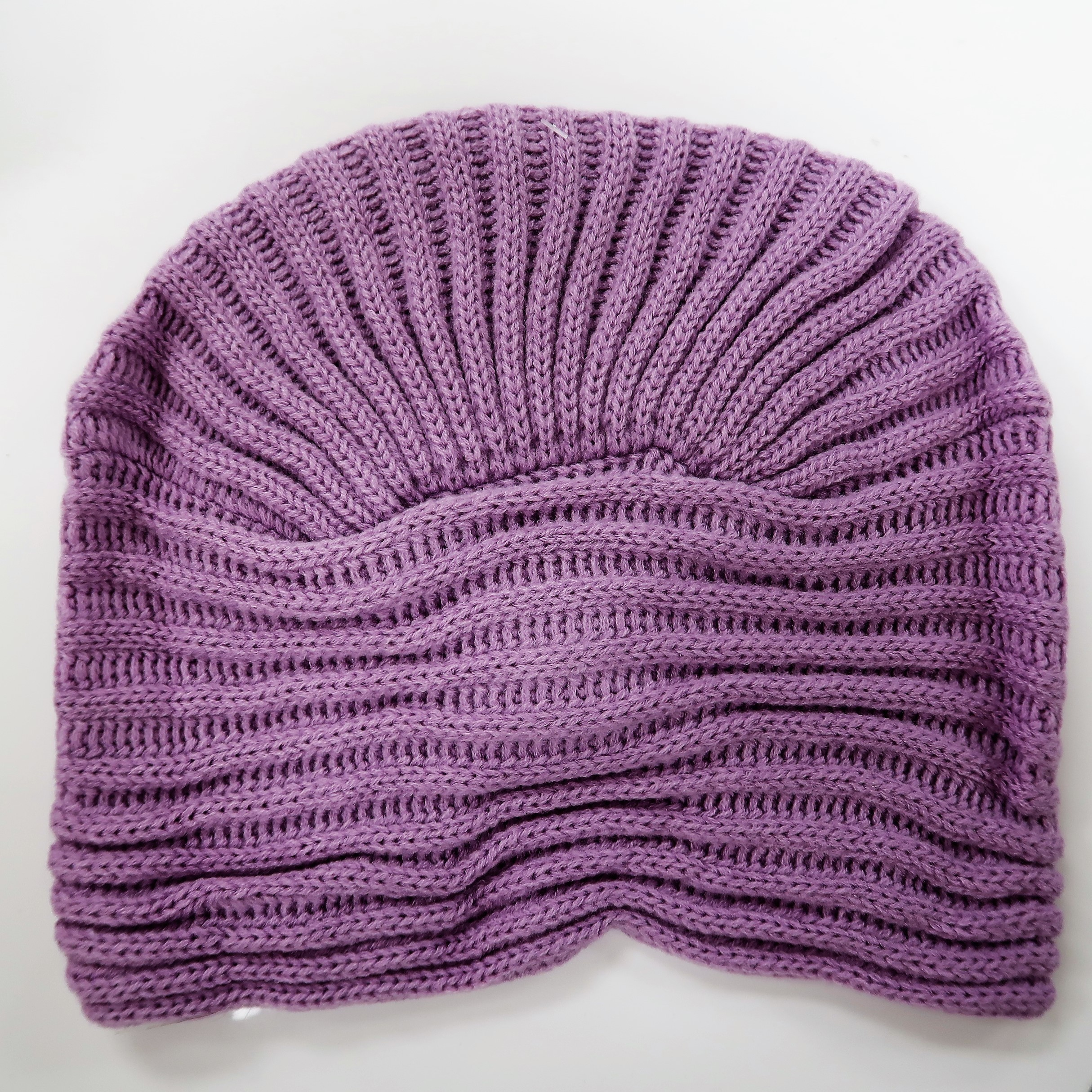 5d3f372a864 KBB Purple Striated Design Knottled Beanie Hat (3 Hats Lot)