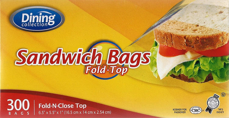 Sandwich Bags Fold N Close Top 300ct