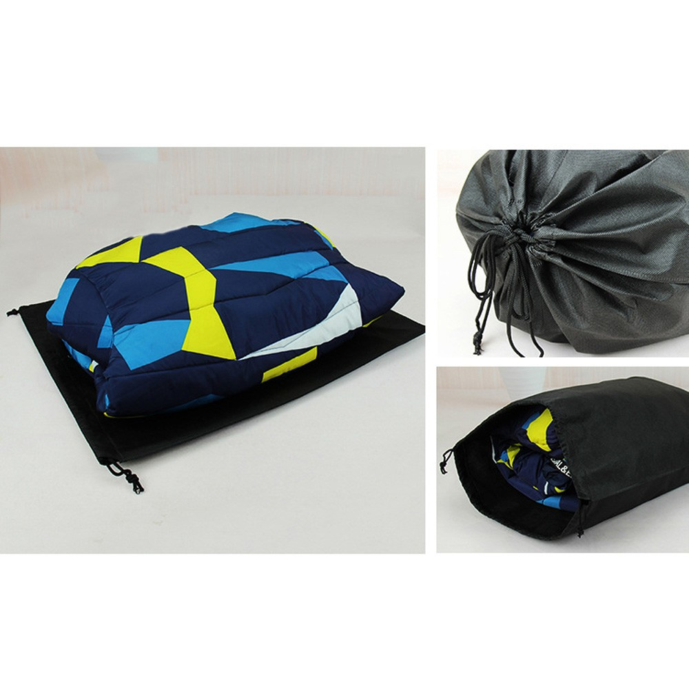 "Black Reusable Non-Woven Drawstring Eco-Friendly Anti-Dust Travel Bags 40 cm x 50 cm (15.75"" x 19.5"") (400 Bags/Lot)"