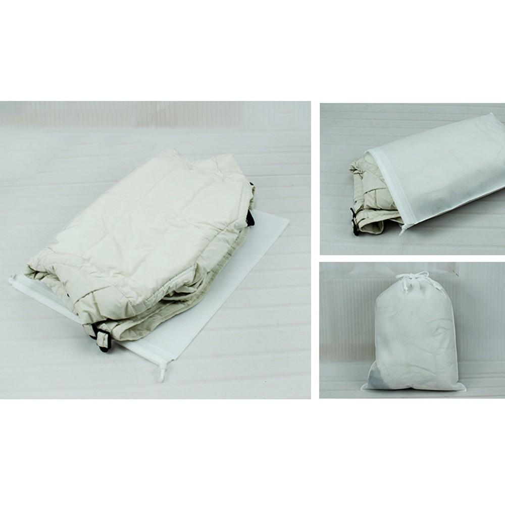 "White Reusable Non-Woven Drawstring Eco-Friendly Anti-Dust Travel Bags 35 cm x 45 cm (13.75"" x 17.5"") (400 Bags/Lot)"