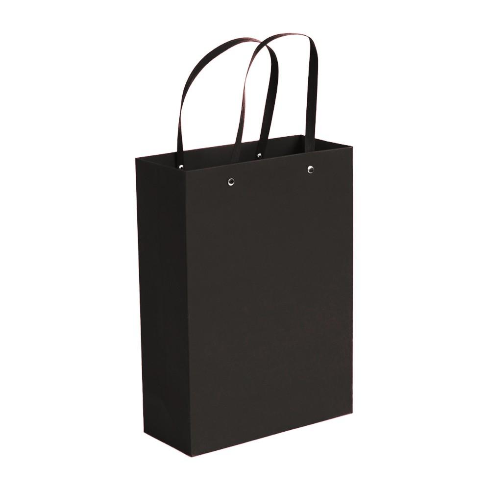 "Black Kraft Paper Bags with Rivet String Handle Shopping Bags  26 cm x 33 cm x 13 cm (10"" x 12.75"" x 5"") (100 Bags/Lot)"