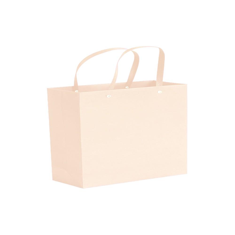 "White Kraft Paper Bags with Rivet String Handle Shopping Bags 28 cm x 20 cm x 10 cm (11"" x 7.75"" x 3.75"") (200 Bags/Lot)"