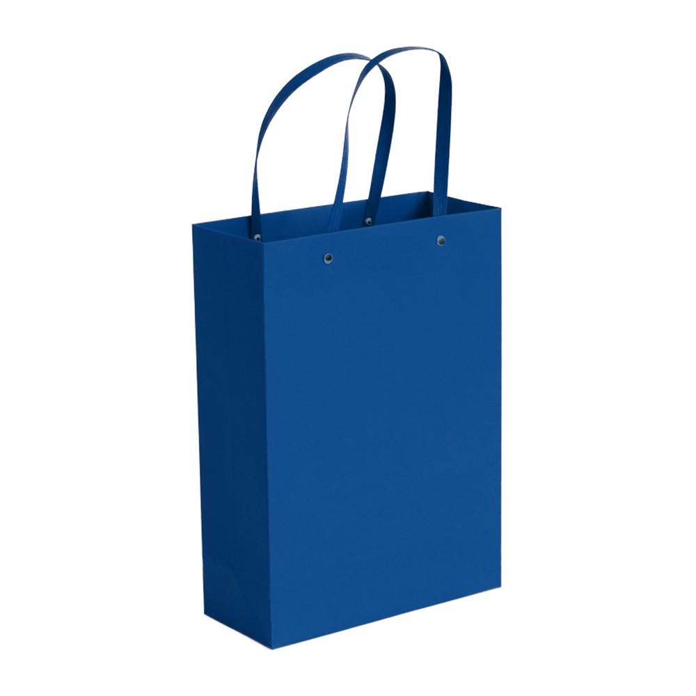 "Blue Kraft Paper Bags with Rivet String Handle Shopping Bags 19 cm x 26 cm x 15 cm (7.25"" x 10"" x 5.75"") (200 Bags/Lot)"