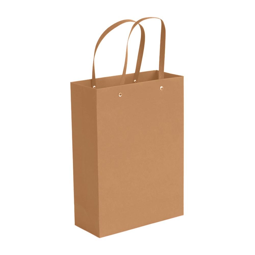 "Brown Kraft Paper Bags with Cotton Handle Shopping Bags 20 cm x 27 cm x 13 cm (7.75"" x 10.5"" x 5"") (100 Bags/Lot)"