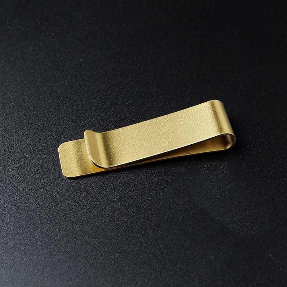 Single Sided Gold Polished Stainless Steel Men's Fashion Money Clip For Cash and Cards (100/lot)