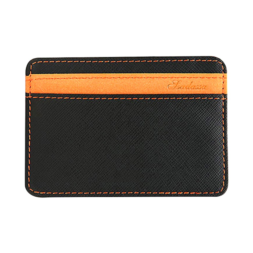 Black and Orange Textured Slim Magic Flip Slim Wallet (100pcs/lot)