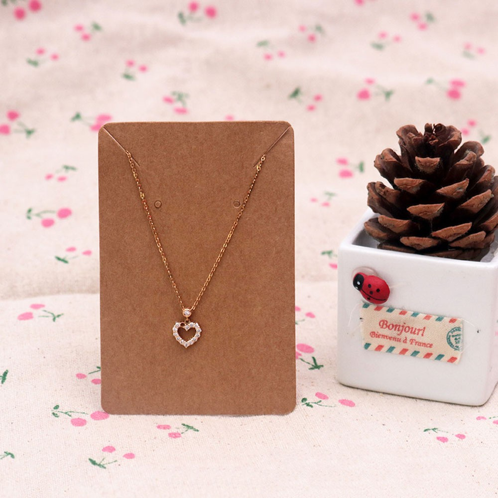 Rustic Kraft Paper Necklace Display Card (2.25 inches x 3.5 inches) [1470 Cards/Lot]