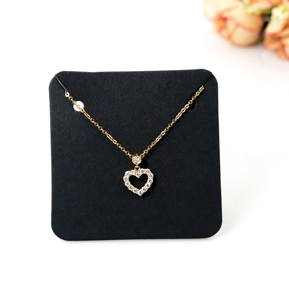 Black Square Necklace Jewelry Card (1.75 inches x 1.75 inches) [2380 Cards/Lot]
