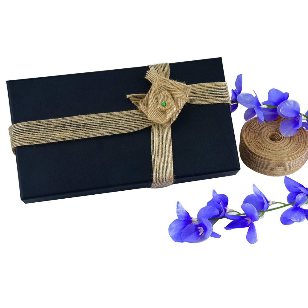 "Jute Ribbon for Clothing Embellishment (3/4"" x 5.5 Yard) [100 Rolls/Lot]"