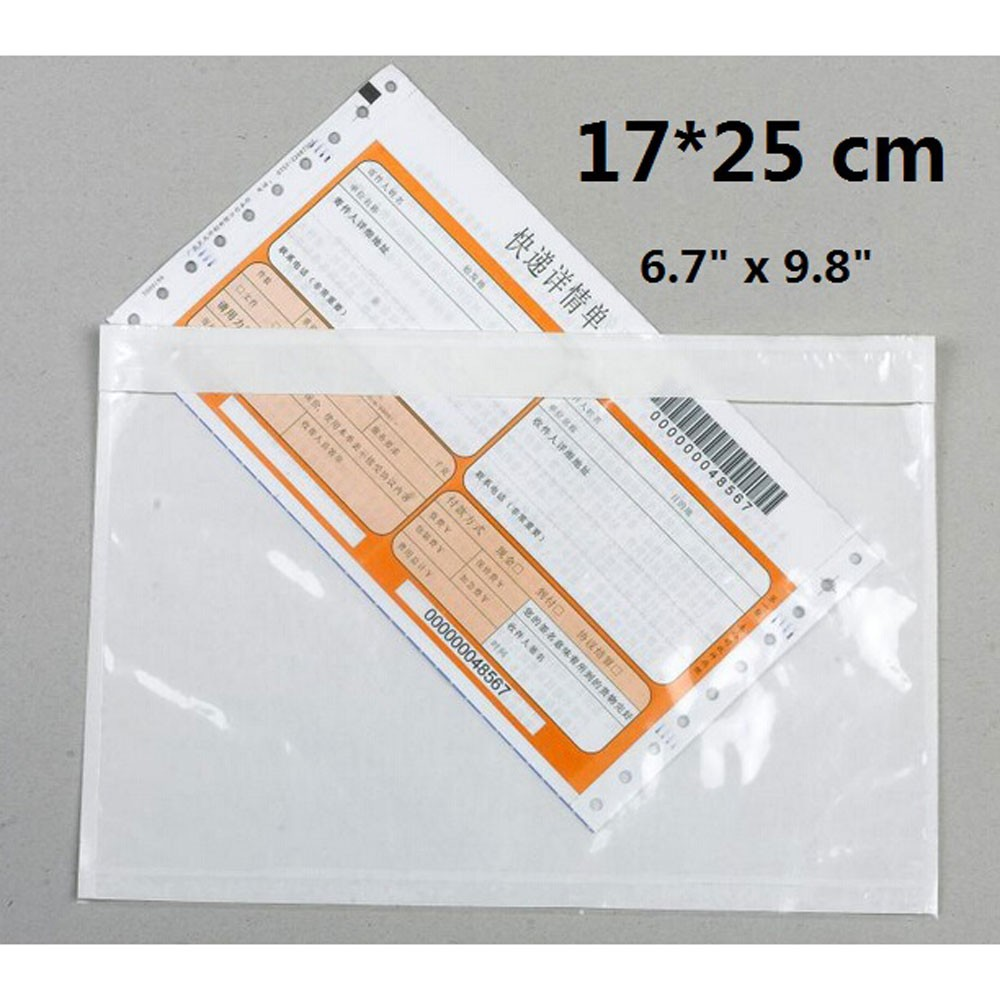 Clear Plastic Self Adhesive Packing Slip Envelopes (6.5 inches x 9.75 inches) [1000 Pouches/Lot]