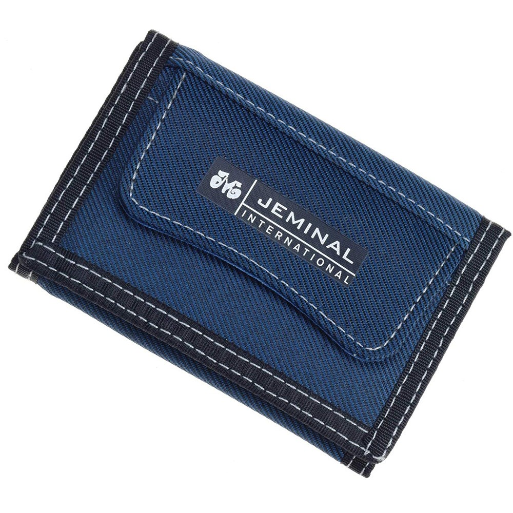 "Blue Denim-like Canvas Trifold Travel Wallet for Men and Women 12cm x 8.5cm(4.5""x3.25"") [80pcs/Lot]"