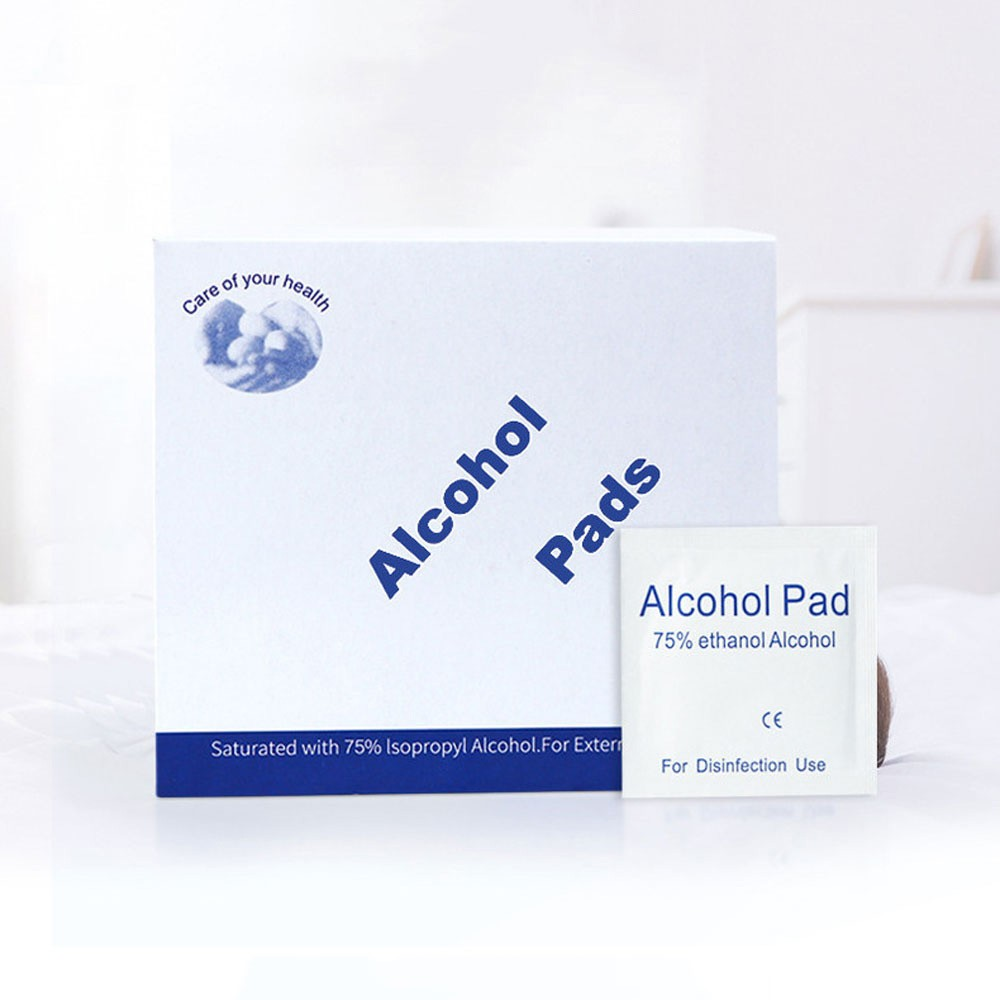 100PCS Antiseptic Swabs Wipes Pad Disposable First Aid Alcohol Pads 75% Saturated