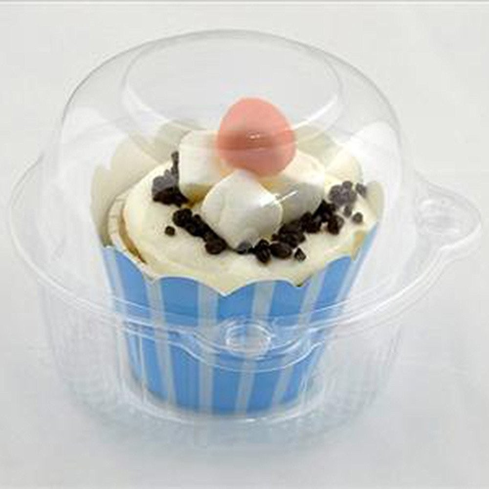 Clear Jumbo Round Cupcake Container Pods (300 Containers/Lot)
