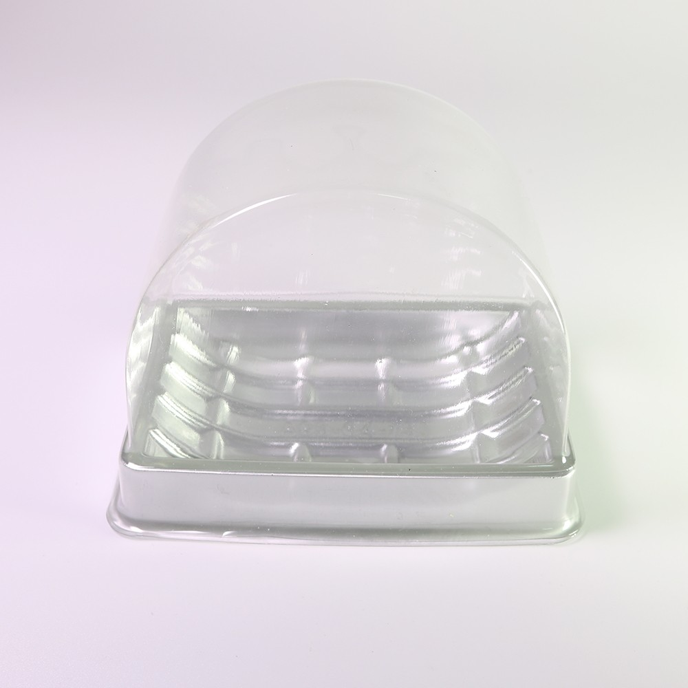 Silver Based w/ Clear Arch Lid Single-Serving To-Go Display Roll Cake Containers (600 Containers/Lot)